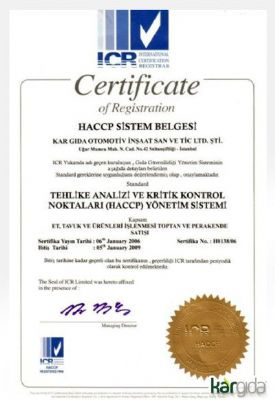 ICR - HACCP System Certification